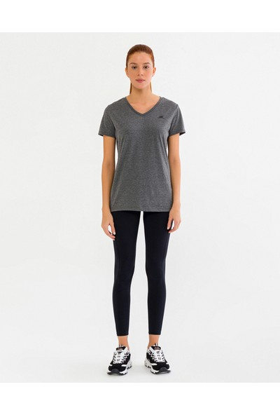 Skechers Graphic Tee'S W Olk Basic V Neck T-Shirt S201108-037 Kadın Gri Tshirt