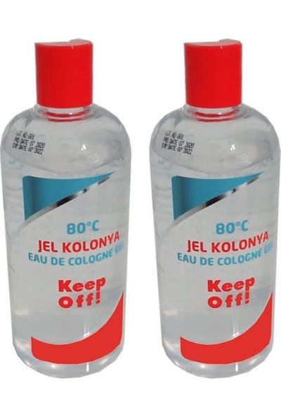 Mamazade Keep Off Jel Kolonya 250 ml 80 Derece - 2 Adet