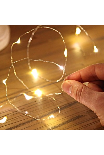 Mutlu Adım 10 m Peri Led Işık Pilli Aydınlatma Dekor 100'lü