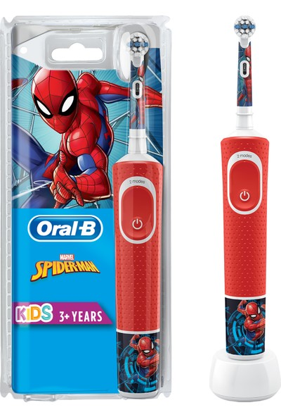 Oral-B D100 Çocuklar Için Şarjlı Diş Fırçası Spiderman