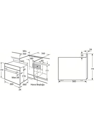 Vinola MOFA.104.111.06 Gri Digital 6+1 Turbo Fırın