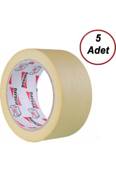 5 Adet Dayson Maskeleme Bandı Kağıt Bant 48 mm x 35 mt