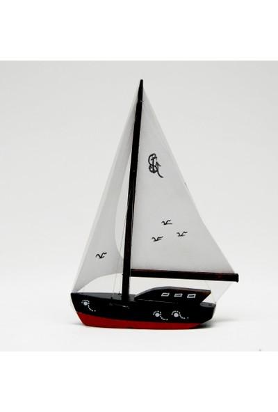 Synope Bez Yelkenli Düz Yat Modeli - Gemi Tekne Kayık Sandal Maketi (Dbm-1)