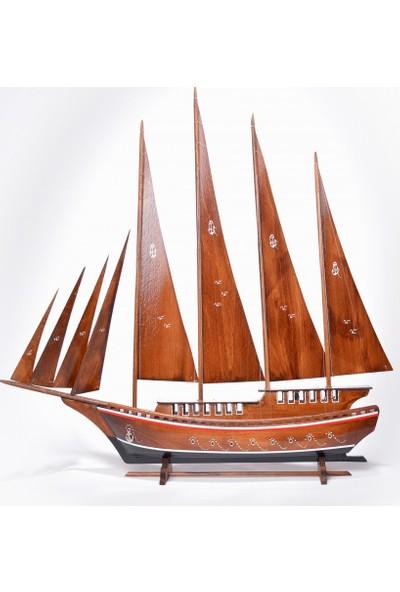 Synope Ahşap Yelkenli Yat Modeli – Gemi Tekne Maketi (Day-5)