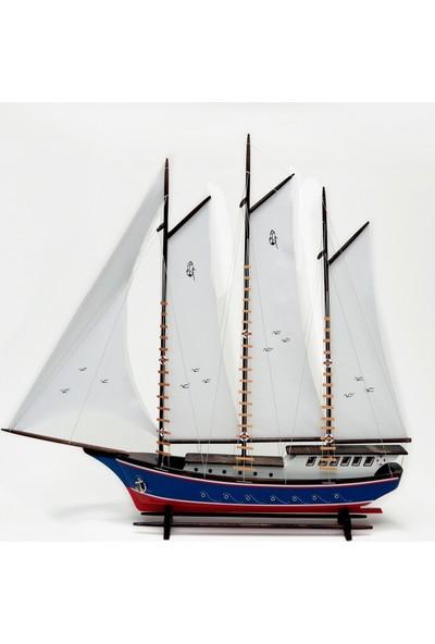 Synope Bez Yelkenli Açık Yat Modeli – Gemi Tekne Kayık Sandal Maketi (Bay-4)