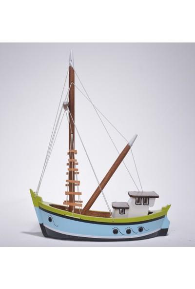 Synope Karadeniz Çektirme Gemi Modeli – Çektiri Sandal Tekne Kayık Maketi (C-2)