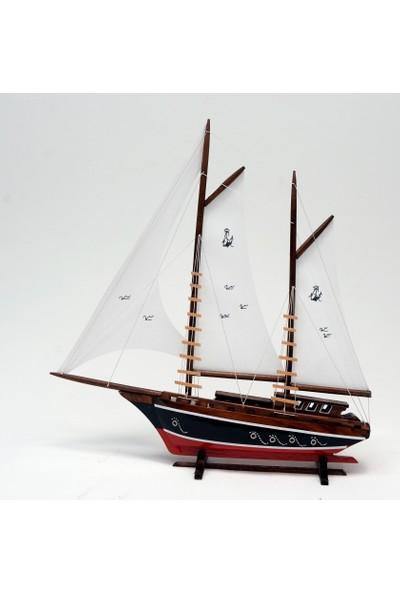 Synope Bez Yelkenli Açık Yat Modeli – Gemi Tekne Kayık Sandal Maketi(Bay-2)