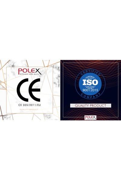 POLEX Cristalüx Granit Eviye P.05