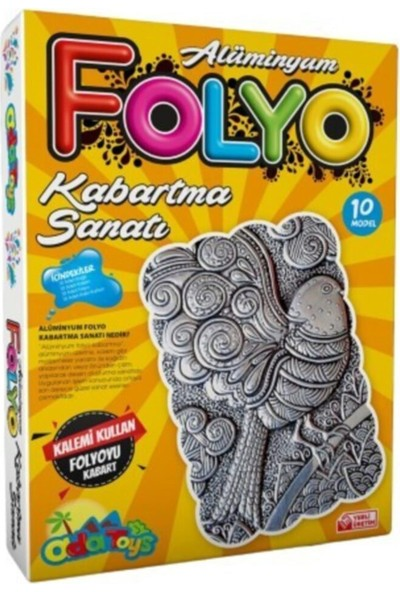 Hobialem Alüminyum Folyo Kabartma Seti, 10 Adet, A4 Boyutunda, Eğitici, Resimli, Hobi Seti