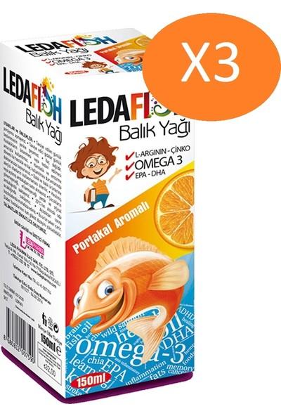 Ledapharma Ledafish Balık Yağı 150 ml Portakal Aromalı - 3 Kutu