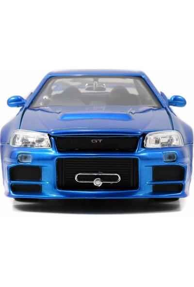 Jada Toys Hızlı ve Öfkeli Brian 2002 Nissan Skyline Gt-R 1:24 Ölçek Model Araba