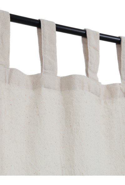 Bedinn Naturel Perde Rustik Pileli Vintage 240x185 cm