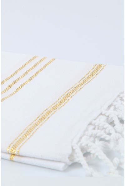Bedinn Peşkir Peşteplaj Beyaz-Altın