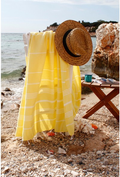 Bedinn Peştamal Peşteplaj Limon Sarısı
