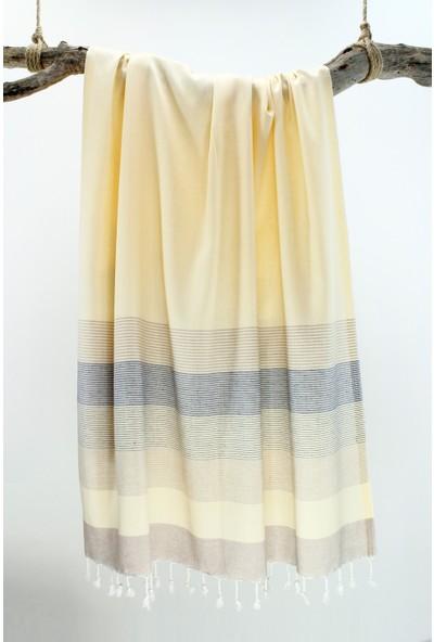 Bedinn Peştemal Stripe Sarı-Lacivert-bej