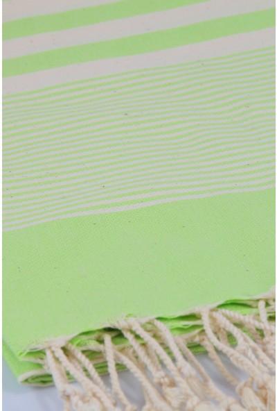 Bedinn Peştemal Rota Çizgili Fıstık Yeşili