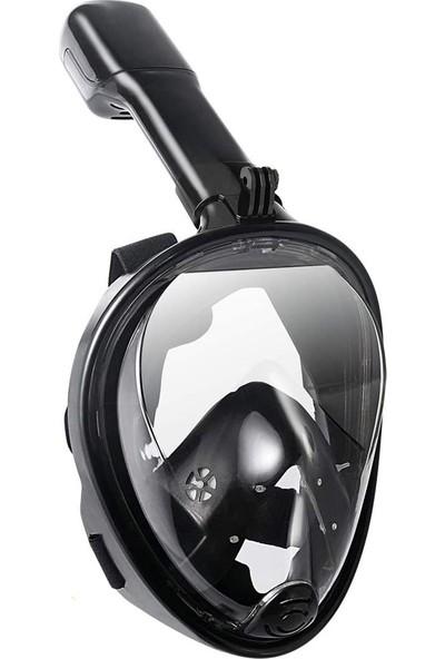 Freebreath Full Face Aksiyon Kamera Için Şnorkel Dalış Maskesi