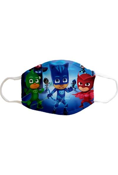 Coutoo Pijamaskeliler Yıkanabilir Bez Çocuk Maskesi