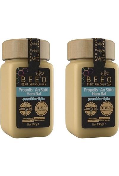 Bee'o Propolis - Arı Sütü - Ham Bal 190 gr (Çocuklar Için) - 2'li
