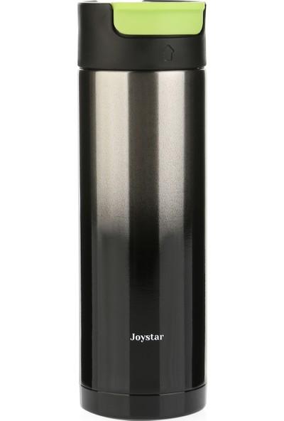 Joystar Çift Cidarlı Vakumlu Isı Yalıtımlı Spor Termos Metalik Siyah