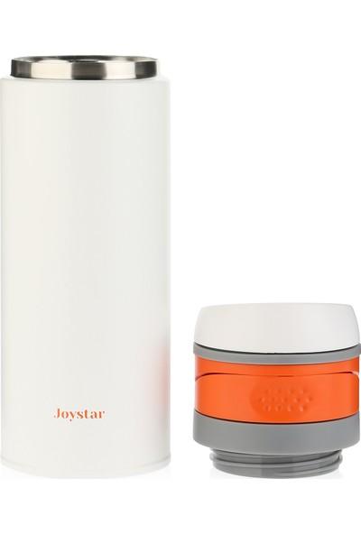 Joystar Çift Cidarlı Vakumlu Isı Yalıtımlı Ekstra Hafif Beyaz