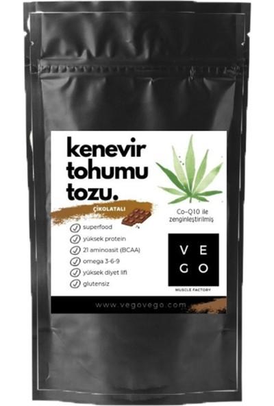 Vego Çikolata Aromalı Kenevir Tohumu Tozu 100 gr