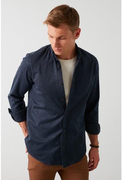 Buratti Pamuklu Düğmeli Yaka Uzun Kollu Oduncu Gömlek Erkek CF21W112238