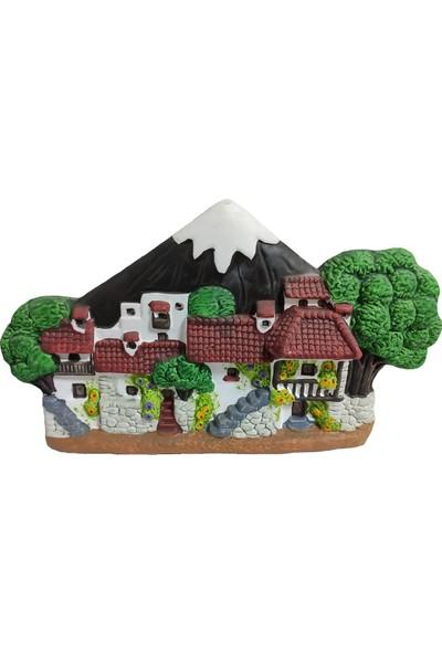 Hediye Buldun Evler ve Ağaçlar Küçük Duvar Süsü 2