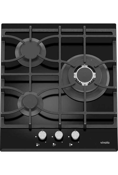 Vinola MOG.4120.111.01 Siyah Döküm Izgaralı Cam Ocak - Doğalgaz