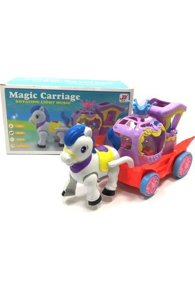 Beyazkuş Ticaret Magic Carriage Pilli Işıklı At Fayton 193-1