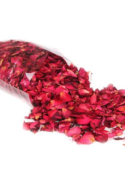 Deco Elit 2000 Adet Kuru Gül Yaprağı + 50 Adet Kırmızı Tealight Mum Romantik Süsleme