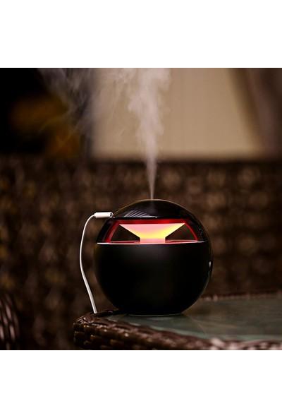 Sezy Küre Hava Nemlendirici 450 ml Gece Lambası USB LED + Fan