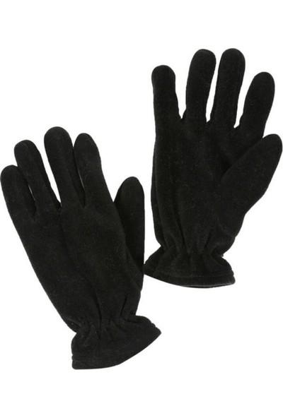 Erdoğanlar 3 Fonksiyonlu Polar Kışlık Bere-Eldiven Siyah,nano