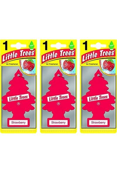Car Freshner Little Trees Çilek Oto Kokusu 3 Adet