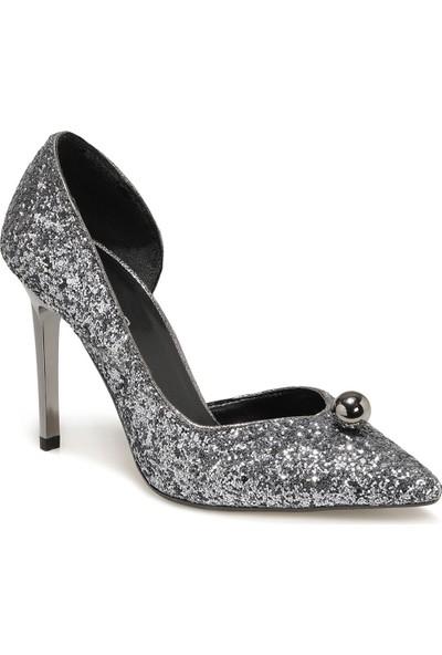 Butigo 20SF-3001 Gümüş Kadın Topuklu Ayakkabı