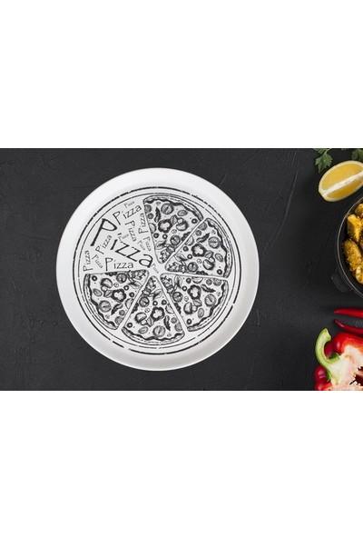 Zucci Beyaz Pizza Tabağı