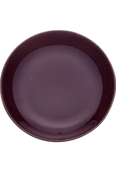 Zucci Tulü Porselen 19 cm Pasta Tabağı - Kahverengi