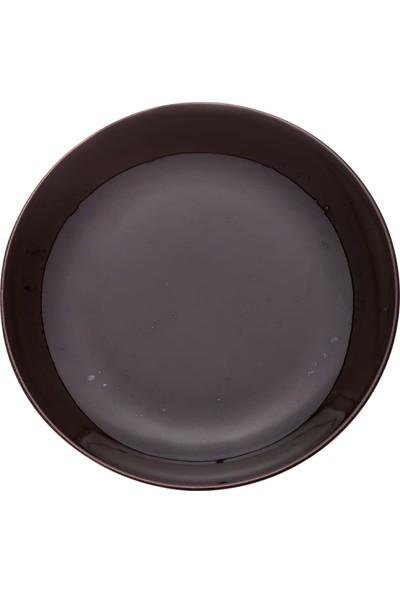 Zucci Tulü Porselen 19 cm Pasta Tabağı - Siyah