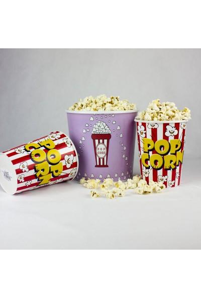 Zucci Zuccihome Popcorn Kovası 3'lü Set - Çizgili Popcorn