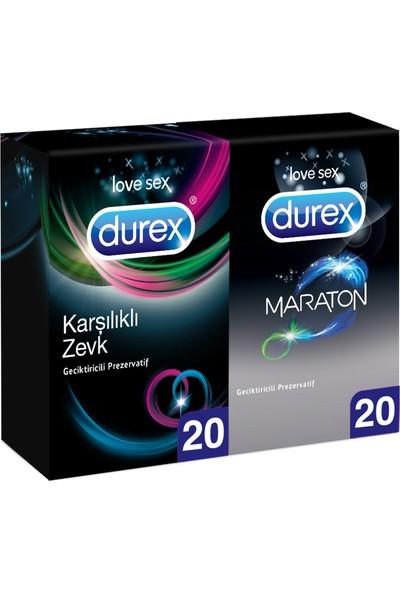 Durex Maraton 20LI +karşılıklı ZEVK20LI Prezervatif Avantaj Paketi