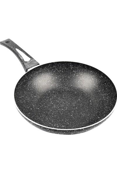 Verda Granit Döküm Wok Sote Tava 30 cm