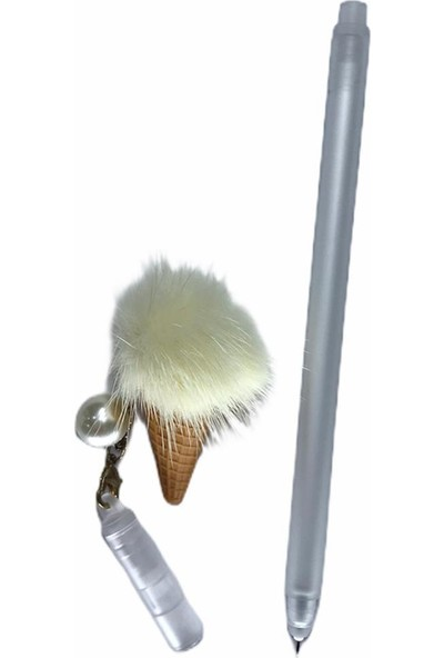 VTK Dondurma Püskül İğne Uçlu Kalem Gümüş