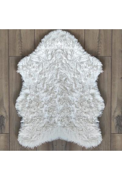 Halıforum Post Peluş Halı Tavşan Tüyü Halı Krem-Do-Tav-P 80 x 140 Cm