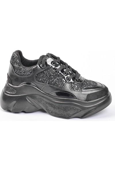 Timer Kalın Tabanlı Taşlı Günlük Ayakkabı