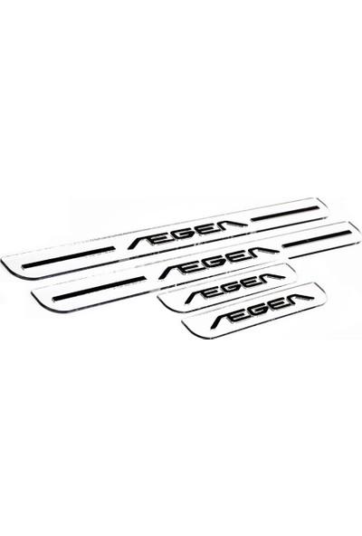 Oto Craft Fiat Egea Kapı Eşiği Harf Geçmeli Gümüş 4'lü Set