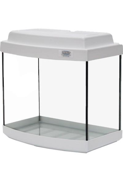 Kanki Pet Akvaryum Bombeli Beyaz Tam Kapak 35 cm (14 litre)