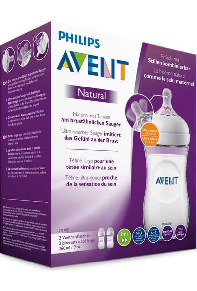 Philips Avent Natural PP Biberon 260 ml, 1 ay+, 2'li, SCF033/27