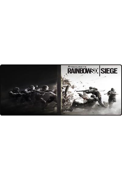 Porge Pro Gaming XL 70 x 30 cm Büyük Oyuncu Rainbow Six Siege Mouse Pad