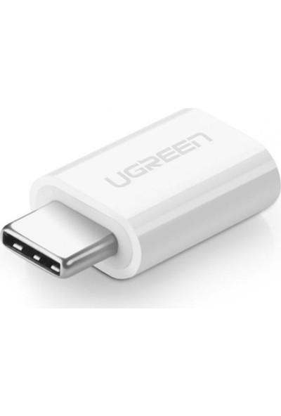 Ugreen USB 3.1 Type-C To Micro USB Dönüştürücü Adaptör Beyaz