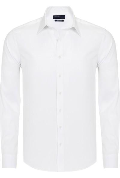 Paşahan Beyaz Slim Fit Non Iron Gömlek